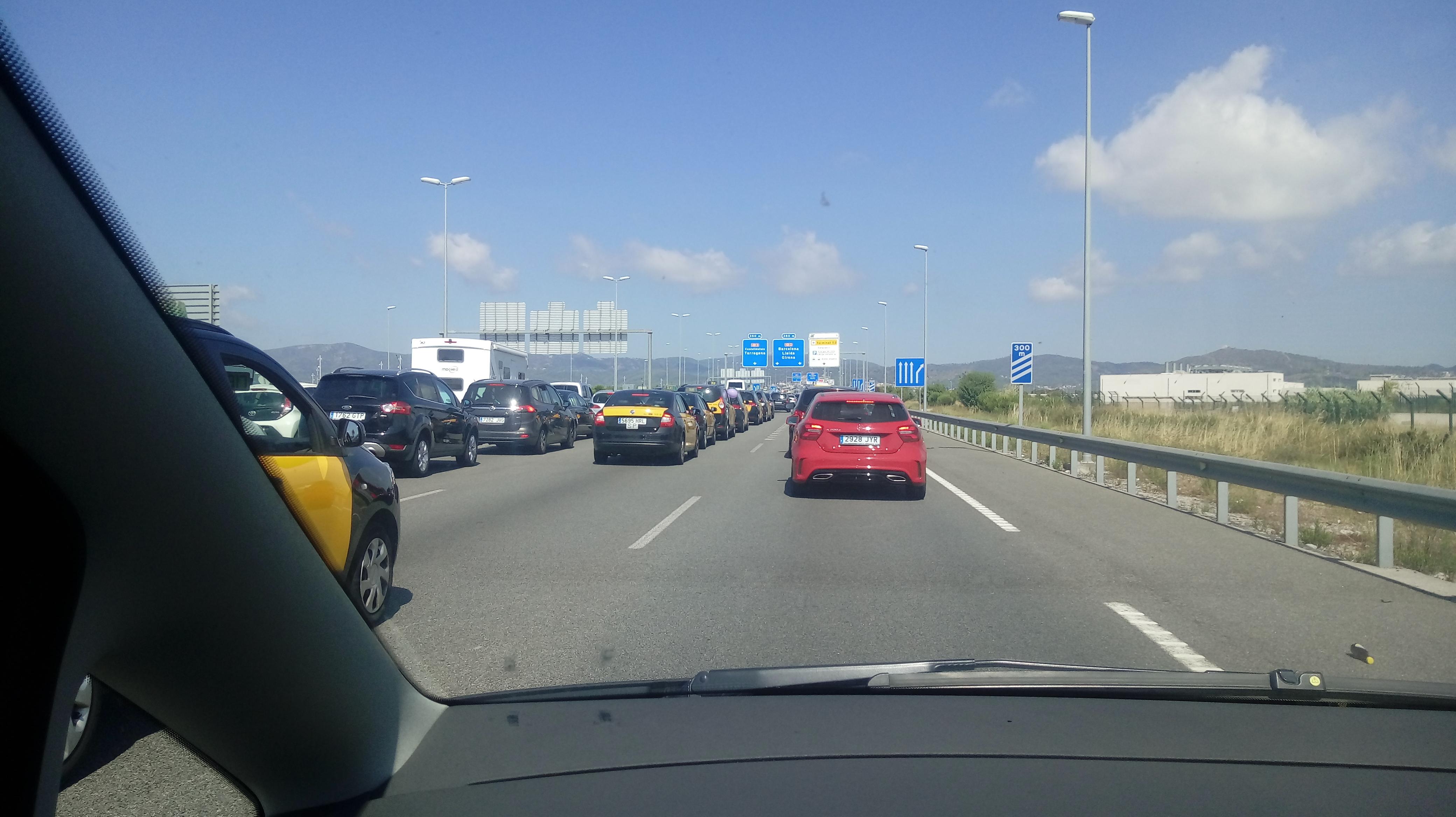taxi strike in barcelona